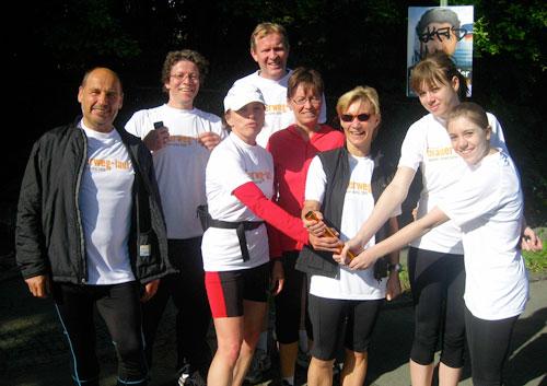 Übergabe Läufer-Team 3 an Läufer-Team 4