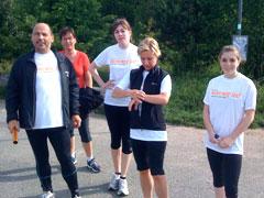 Mauerweg-Läufer der Etappe 4