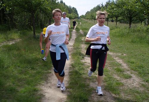 Läufer-Team 5 in vollem Lauf