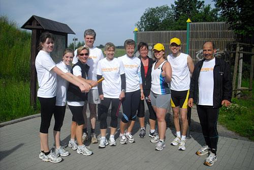 Mauerweg-Lauf: Treffen der Läufer der Etappen 4 und 5