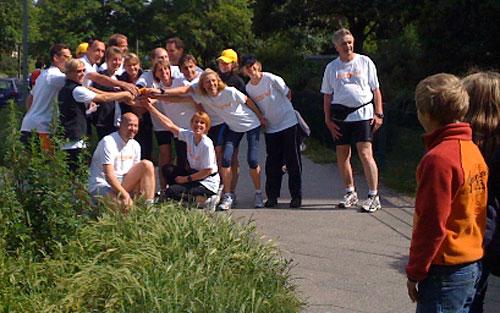 Gruppenbild der Läufer