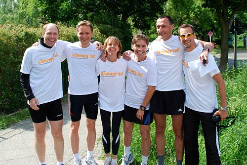 Läufer-Team vor dem Start