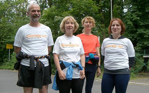 Die Läufer vor dem Start