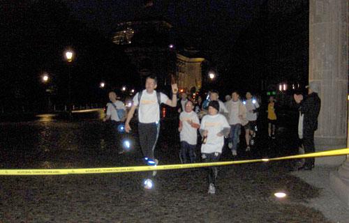 Mauerweg-Lauf: Zieleinlauf