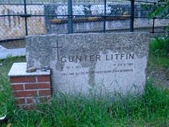 Gedenkstein Günter Litfin