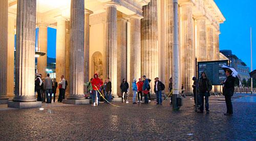 Empfangskomitee am Brandenburger Tor