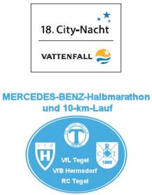 Logo City-Nacht und Mercedes-Benz-Halbmarathon
