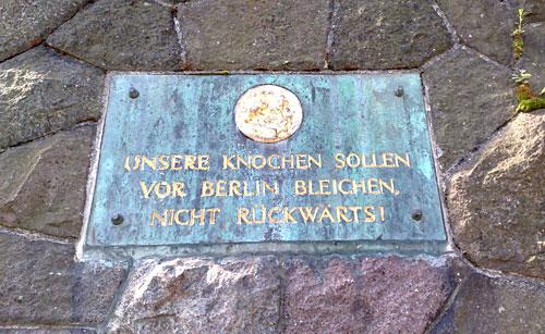 Inschrift an der Bülow-Pyramide