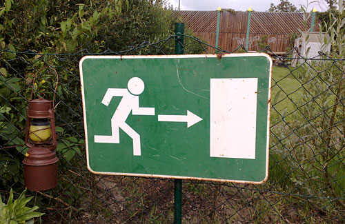 Flucht-Schild
