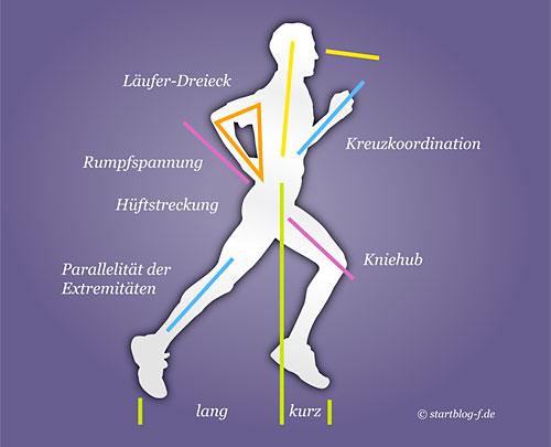 Diagramm: optimaler Laufstil