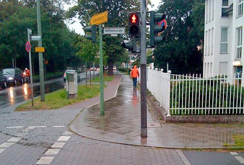 Regen am Start an der Veltheimstraße