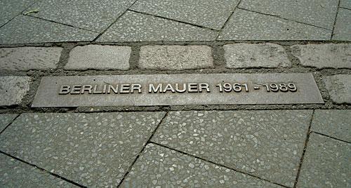 Plakette Berliner Mauer