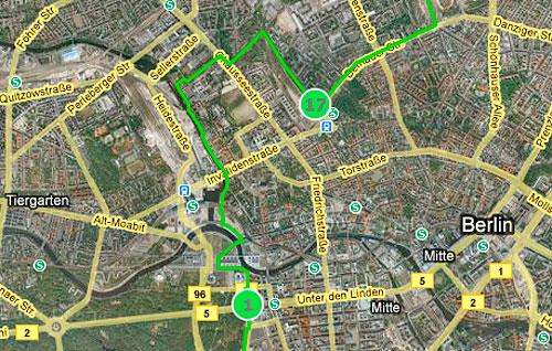 Strecken-Karte