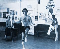 Rocky beim Seilspringen