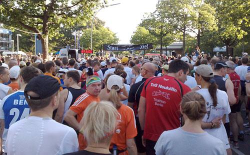 Läufer vor dem Start
