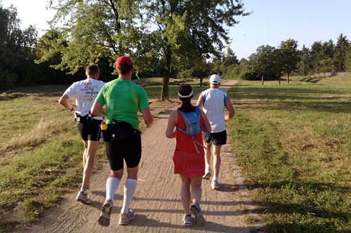 Läufer auf dem Weg Richtung Großbeeren