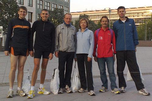 Läufer-Gruppenbild vor dem Marathon