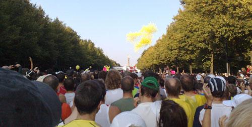 Startschuss mit Luftballons