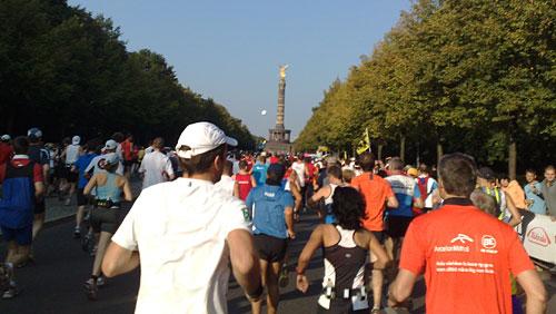 Marathon-Läufer auf dem ersten Kilometer
