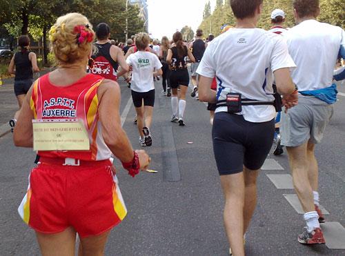Französische Läuferin