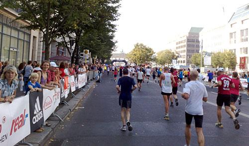 Das Ziel mit dem Brandenburger Tor