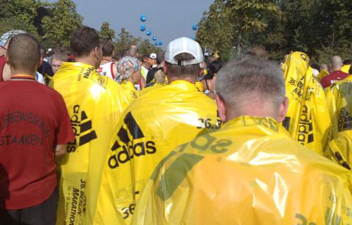 Im Gedränge nach dem Marathon