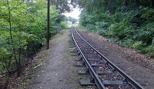 Gleise zum Bahnhof Göhren
