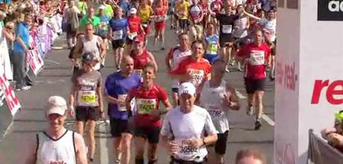 Zieleinlauf Berlin-Marathon 2009