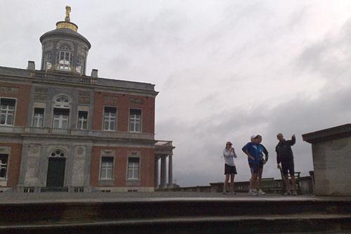 Läufer am Marmorpalais