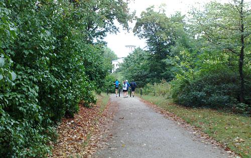 Läufer auf dem Pfingstberg