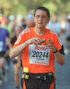 Läufer mit Foto-Handy