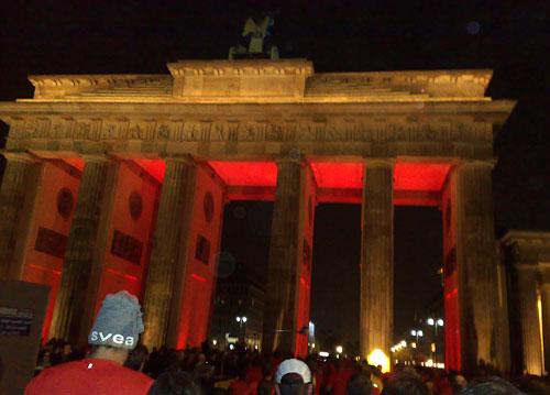 Das beleuchtete Brandenburger Tor