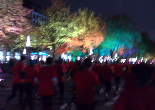 Unter den Linden im Rahmen des Festival of Lights