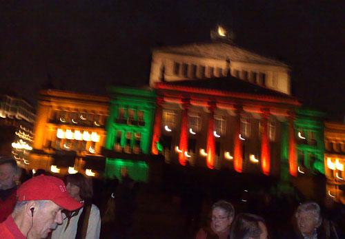 Lichtinstallation am Konzerthaus auf dem Gendarmenmarkt