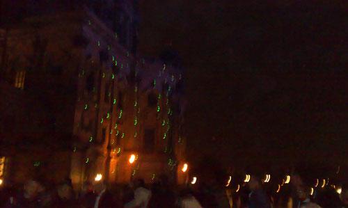 Grüne Lichter am Berliner Dom