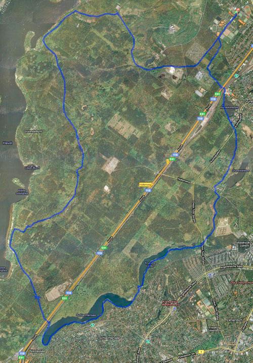 Grunewald-Lauf-Strecke