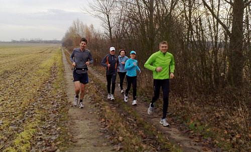 Läufer auf dem Weg nach Kleinbeeren