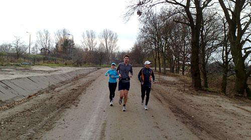 Läufer kurz vor der Baustelle