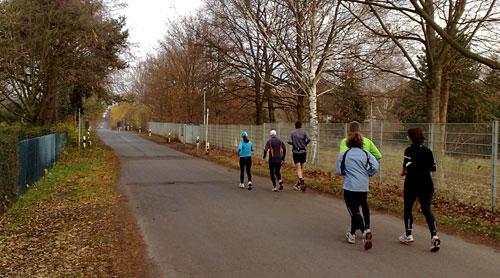Läufer auf dem Diedersdorfer Weg