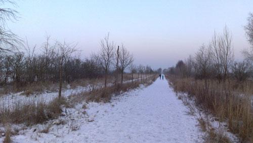 Läufer bei großer Kälte