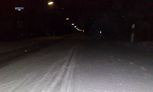 Laufen auf dem ersten Schnee