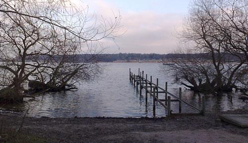 Blick auf das Strandbad Wannsee