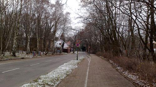 Straße nach Steinstücken