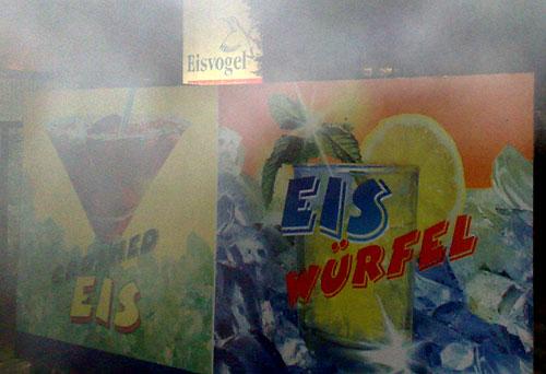 Schilder Eis-Lieferant