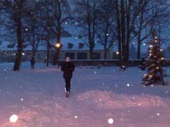 Läuferin am Silvesterabend