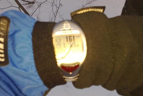 Läufer-Uhr mit Anzeige 1,61 km