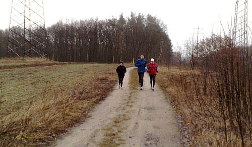 Läufer auf Weg