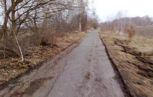 Lauf-Weg im Frühling