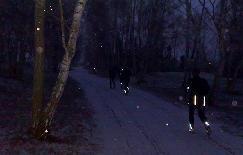 Läufer auf Schnee