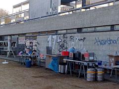 Verpflegungsstand am Stadion